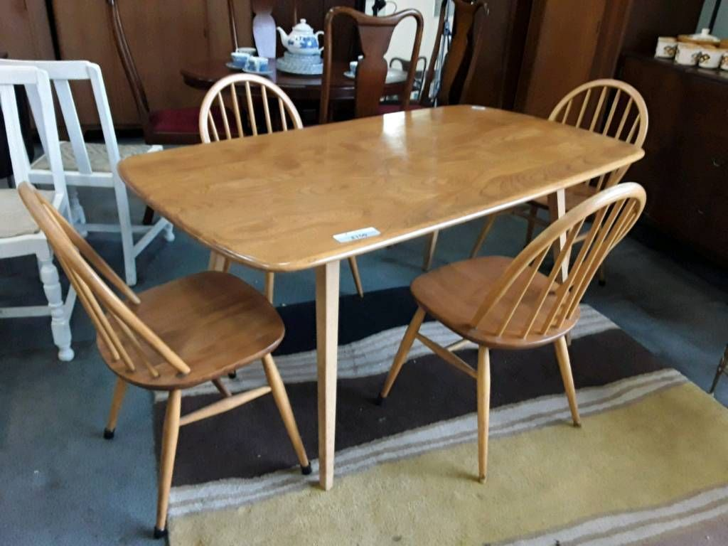 Stunning Ercol Dining Tablesold With 4 Non Ercol Chairs Awesome Second Hand Ercol Dining Room Furniture Inspiration Design