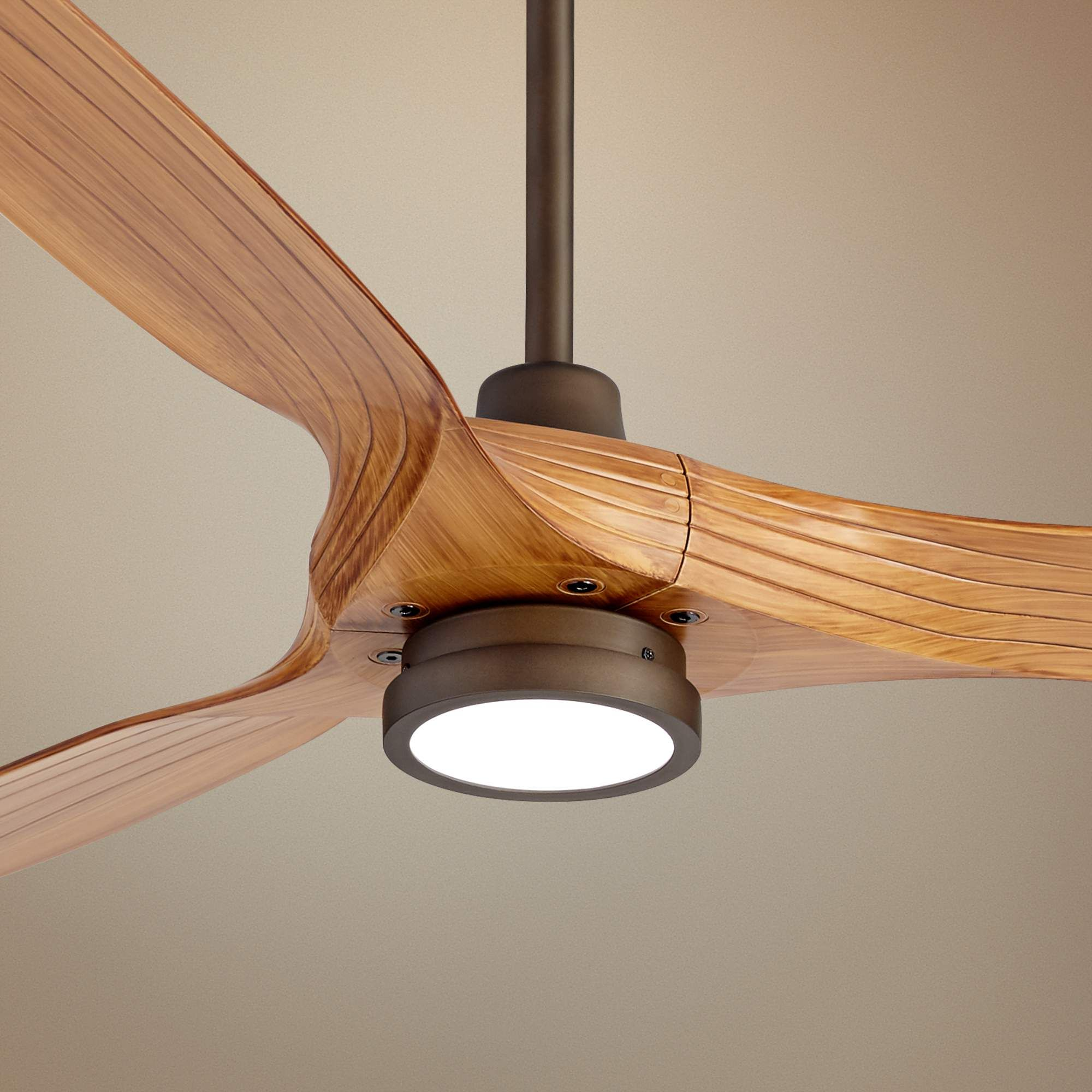 60 Aireon Bronze And Walnut Damp Rated Led Ceiling Fan 57w19