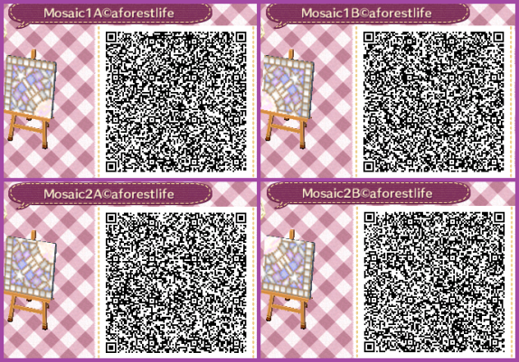 Qr Codes A Forest Life Motifs De Sol Animal Crossing Astuce Motif Acnl