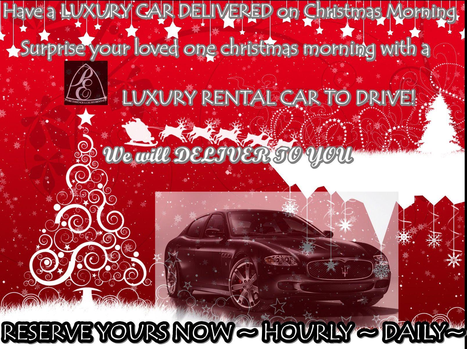 Luxury Car Rental Christmas Gift Exotic Rental Car Las Vegas Rent