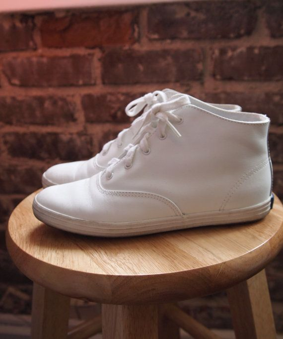 c182fadde19 Ked s High Top Shoes   Vintage 80s 90s White Leather Lace-Up Keds Tennis  Shoes  Size 5.5 Now just to find my size....been looking for these for  years.