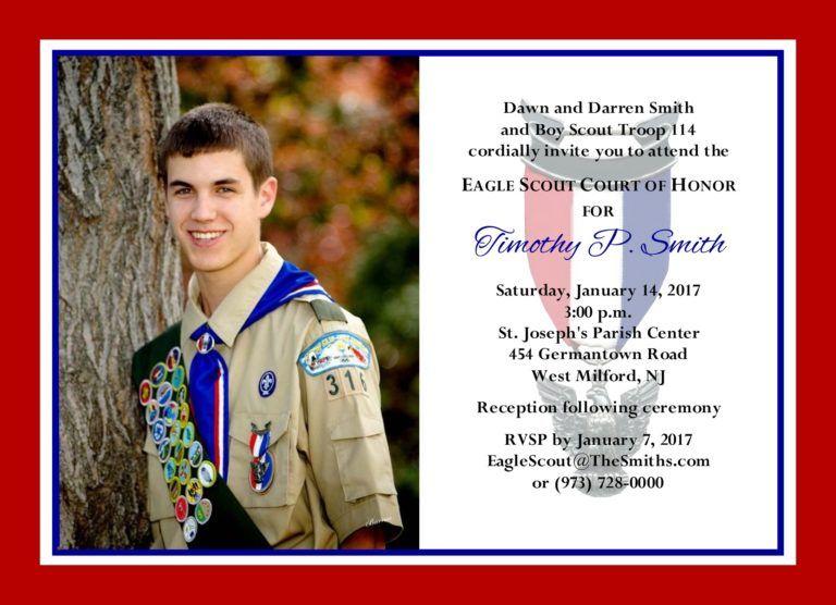 Simplehonorsbordersphoto2 Eagle Scout Ceremony Eagle Scout Invitation Template