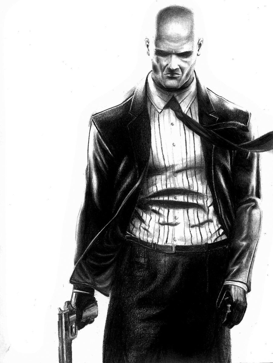 Hitman Absolution Pencil Drawing Hitman Hitman Agent 47 Drawings