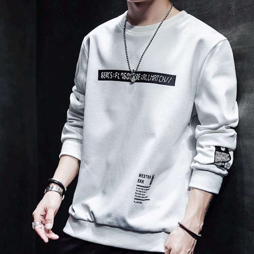 Mens Logo Sweatshirt – Khaki / S – Ropa y Outfits