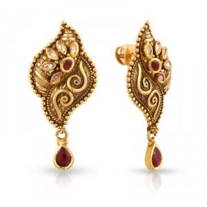 Gold Earrings Designs For Daily Use Google Search
