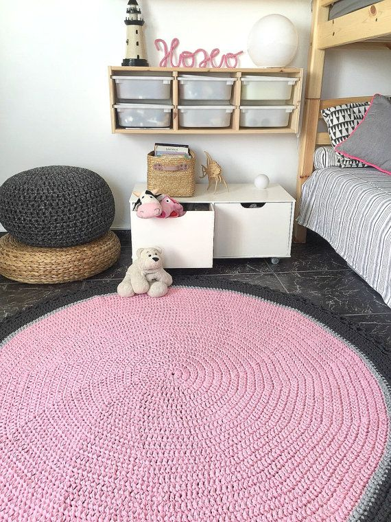 Large Crochet Round Rug Nursery Decor Kids Baby By Loopinghome