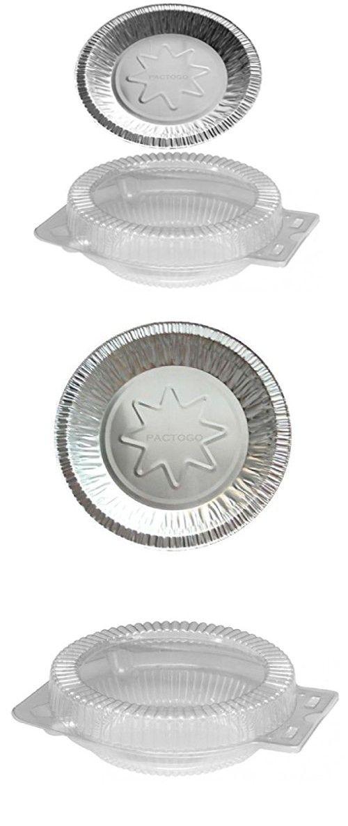 8  Aluminum Foil Pie Pan Plate Tin w/Clear OPS Plastic Clamshell 25 Sets  sc 1 st  Pinterest & 8