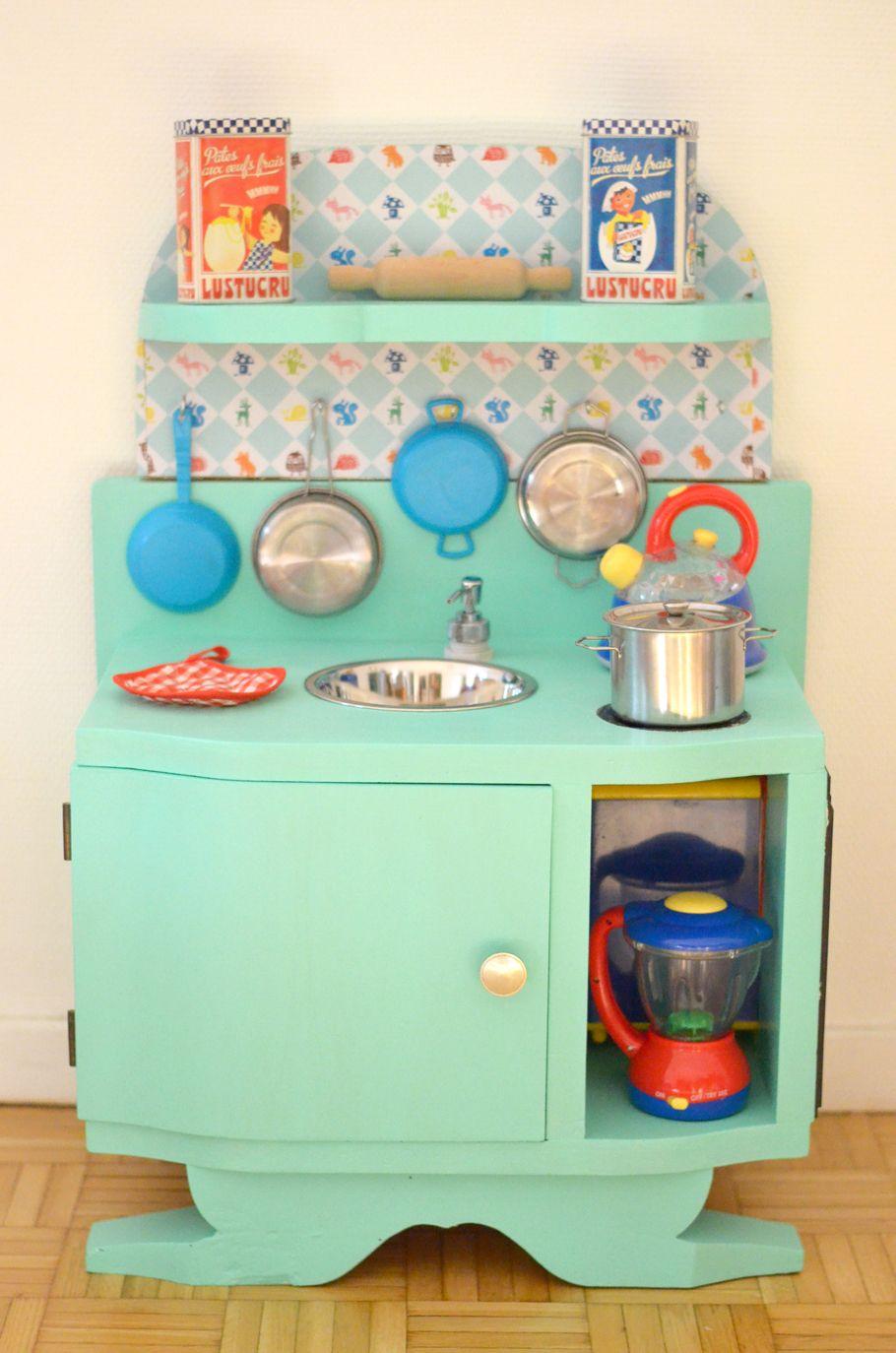 diy une cuisine enfant en bois fabriquer partir de r cup 39 upcycling and miniatures. Black Bedroom Furniture Sets. Home Design Ideas