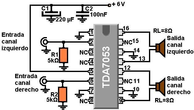 amplif_con+tda7053.JPG (629×359) | Audio Amplifiers | Pinterest ...