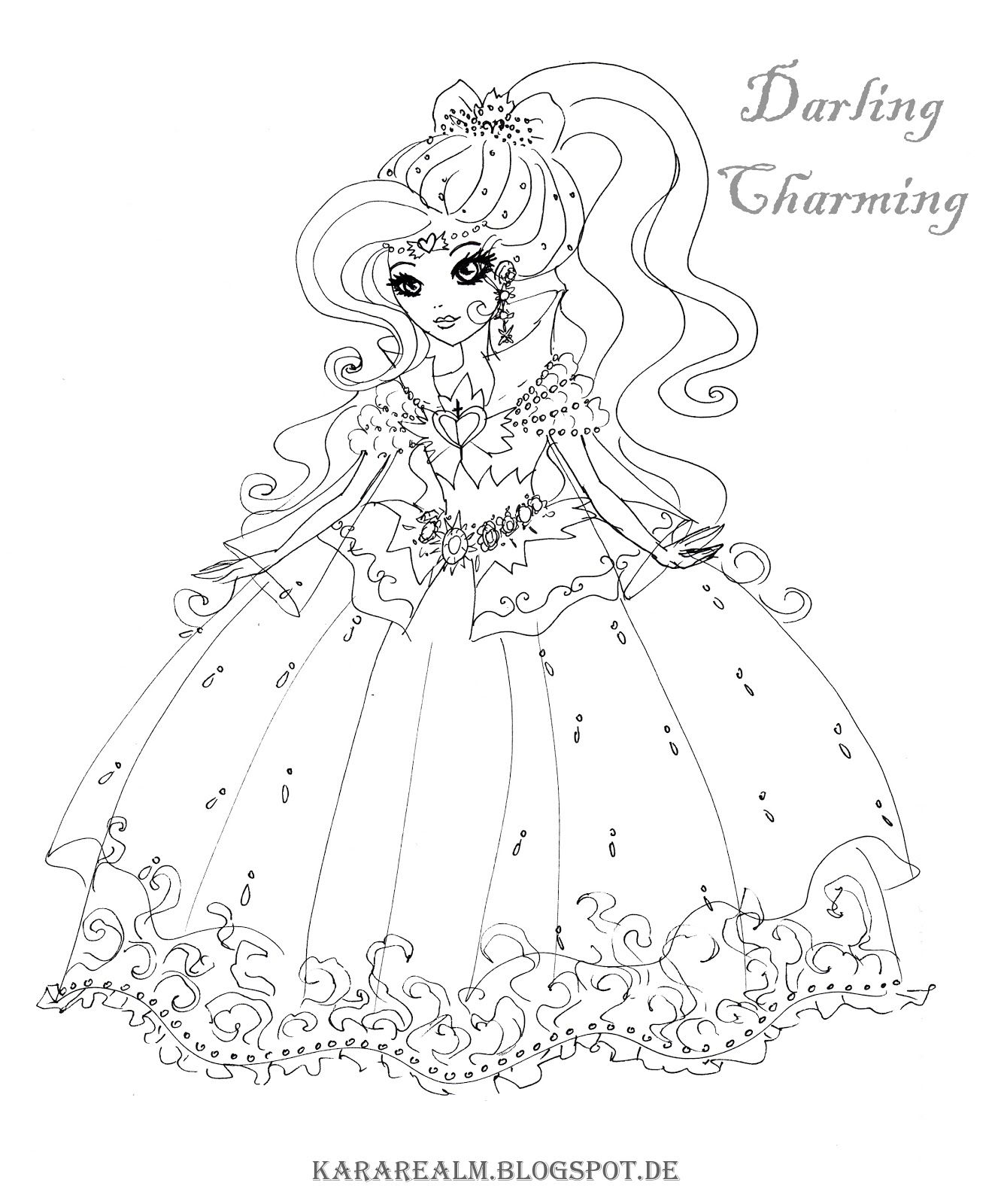 Ever After High Coloring Pages  Cartoon coloring pages, Coloring