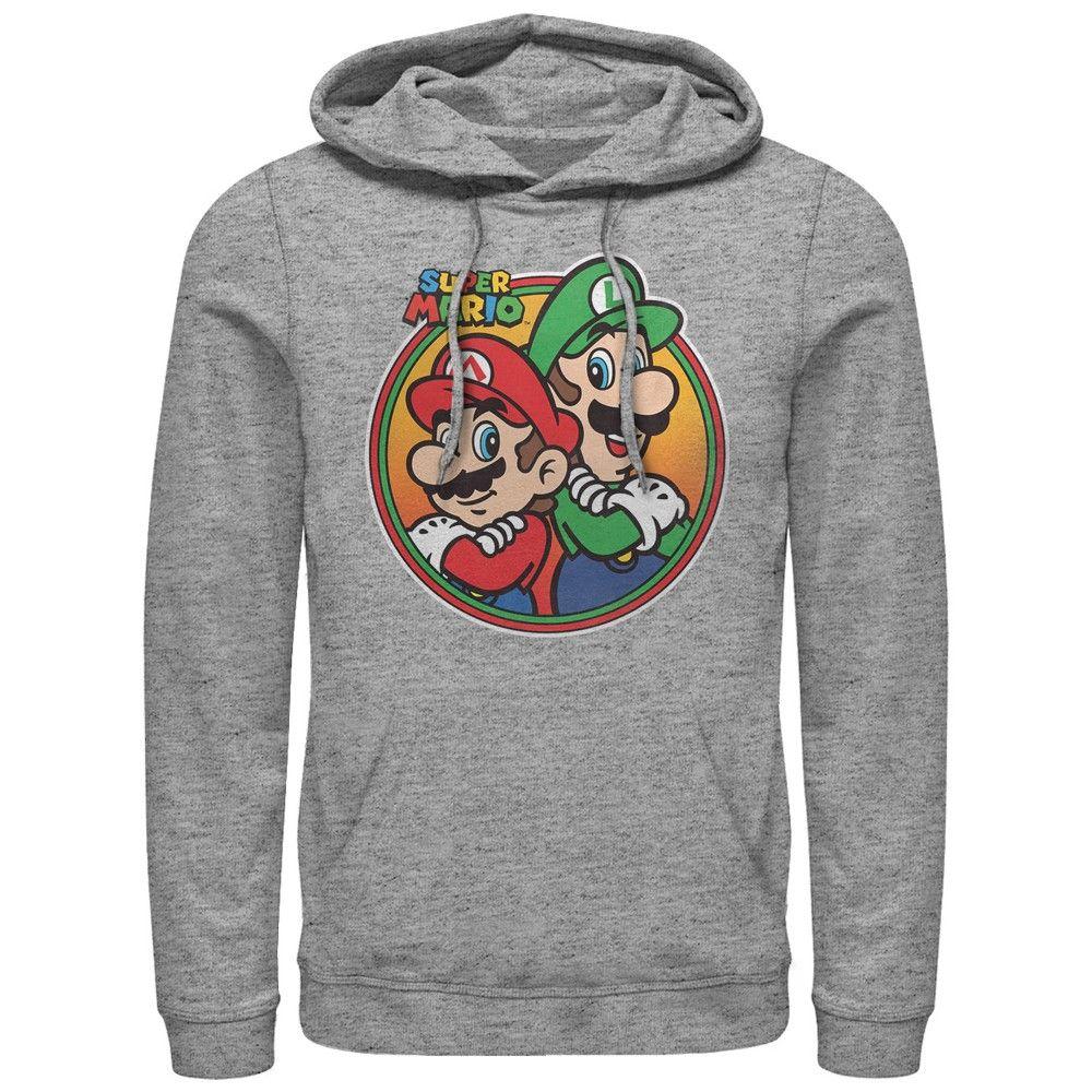 Fifth Sun Mens Nintendo Slim Fit Long Sleeve Hooded Graphic Sweatshirt Gray Large In 2021 Super Mario Hoodies Super Mario And Luigi [ 1000 x 1000 Pixel ]