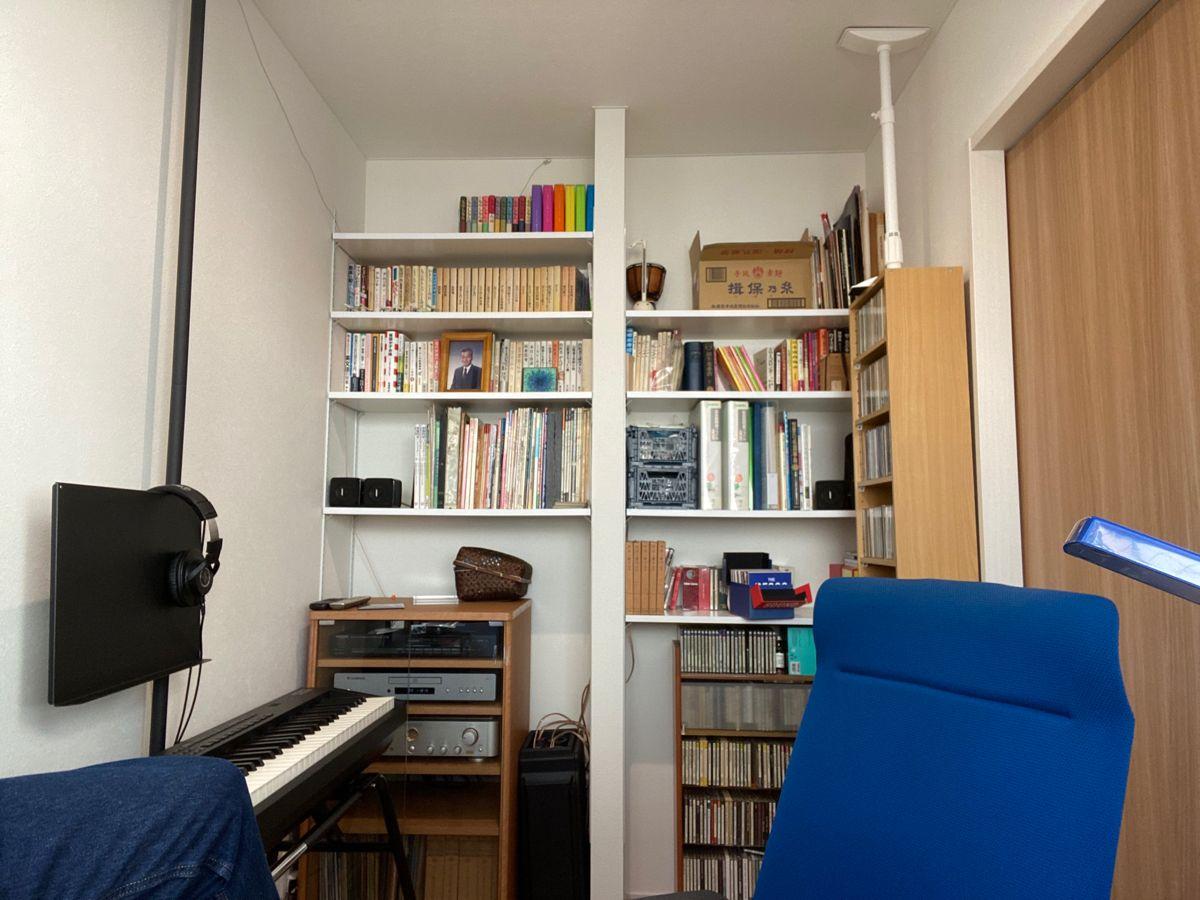 3畳の書斎 狭い書斎のレイアウト 3畳 カウンターテーブル 書斎