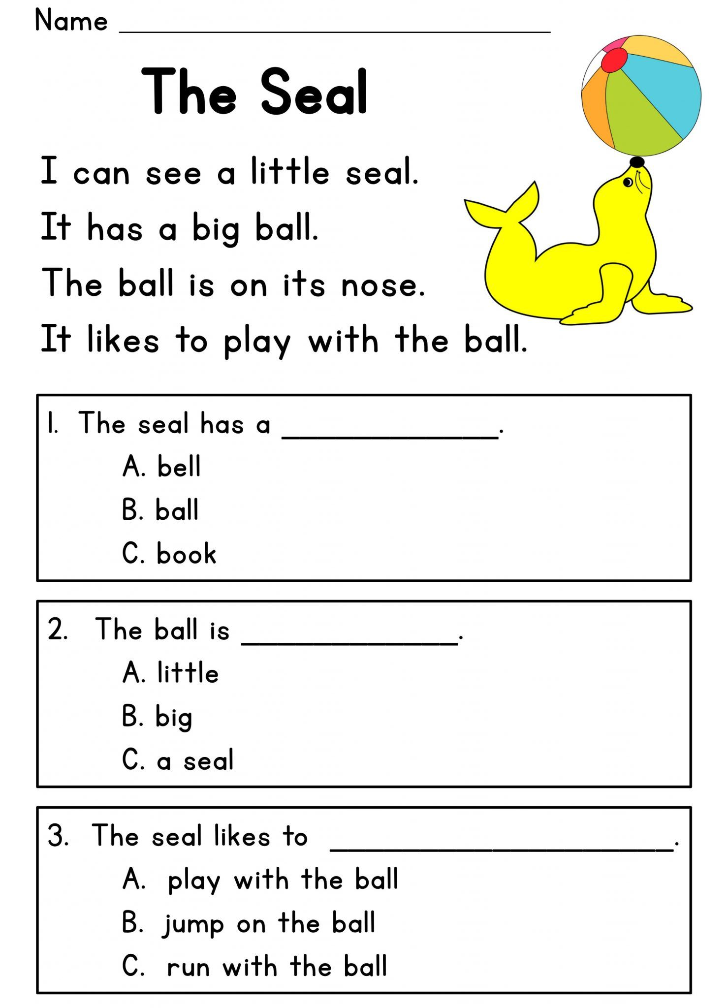 Free Printable Worksheets For 5 Year Olds In With