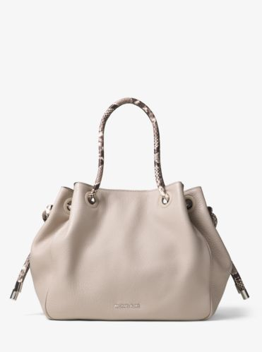 Tote Bag On Sale, Olive, Leather, 2017, one size Michael Kors