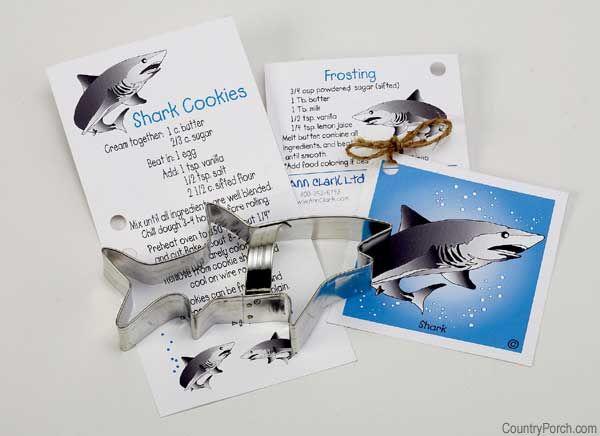 shark cookie cutter for Shark Week!@Christine Johnson