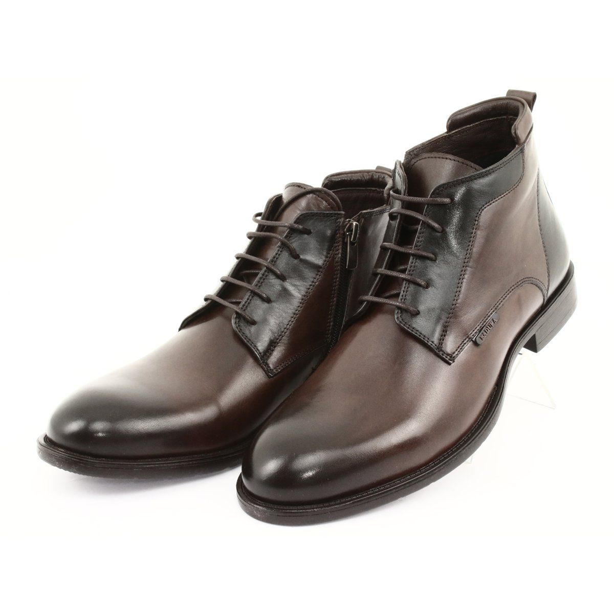 Botki Sztyblety Zimowe Badura Brazowe Chelsea Boots Men Winter Boots Dress Shoes Men