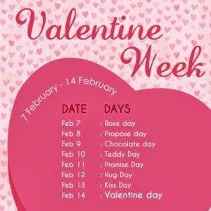 Valentines Week List 2015