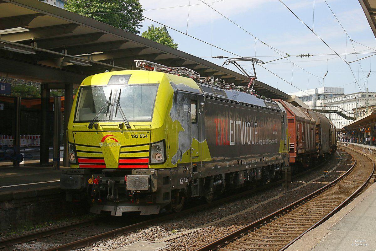 TXLeitwolf 193 554 Lokomotive, Eisenbahn, Zug