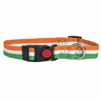 Irish Stripe Natural Bamboo Dog Collar Designer Dog Collars Dog