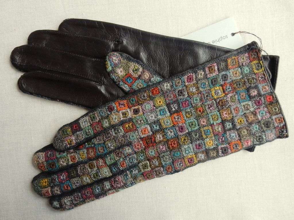 Carre Lilliput gloves - Sophie Digard crochet and leather