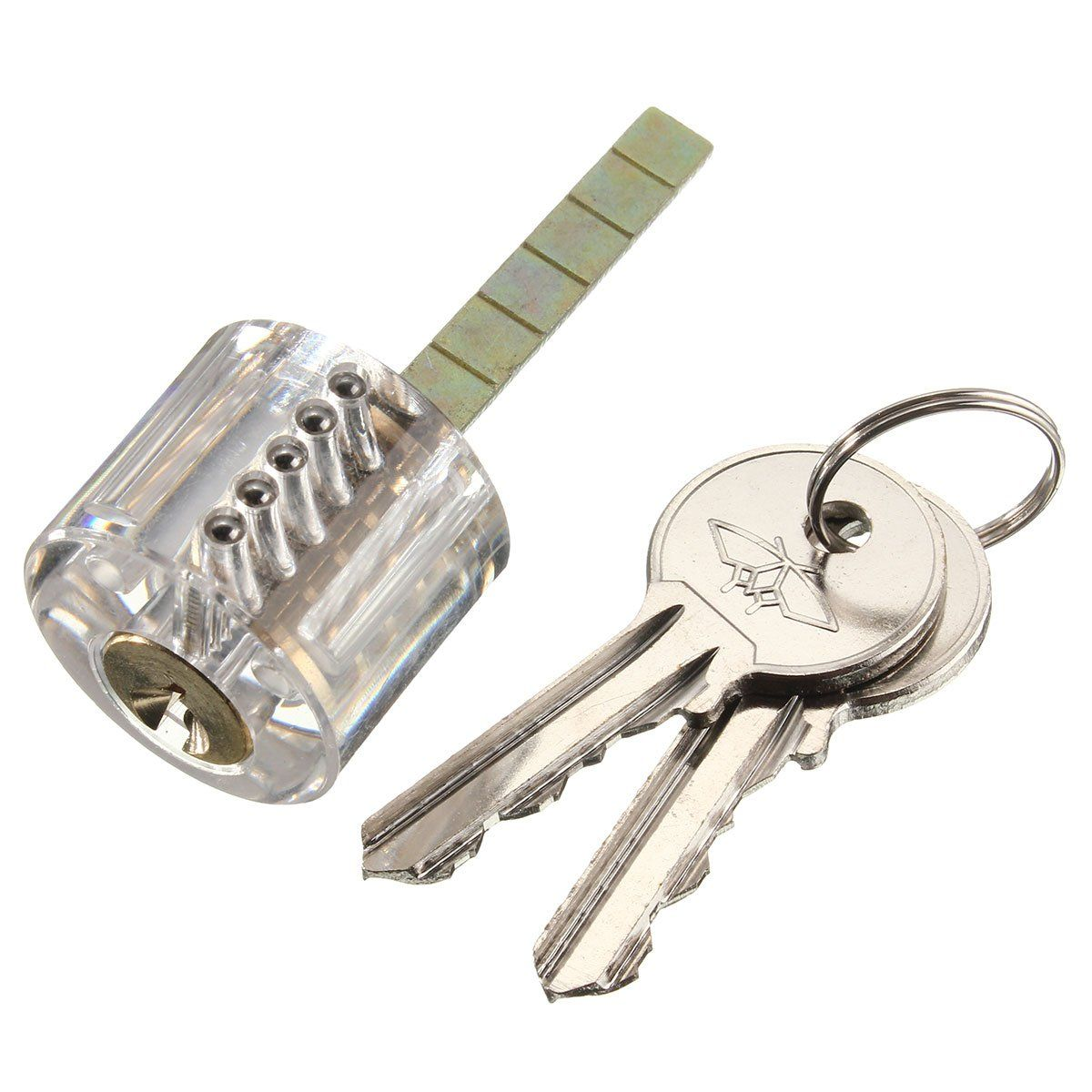 Pick Cutaway Visable Padlock Lock For Locksmith Practice Training Transparent 10pcs Lockpick Tool Set Skill Picks Tools Https