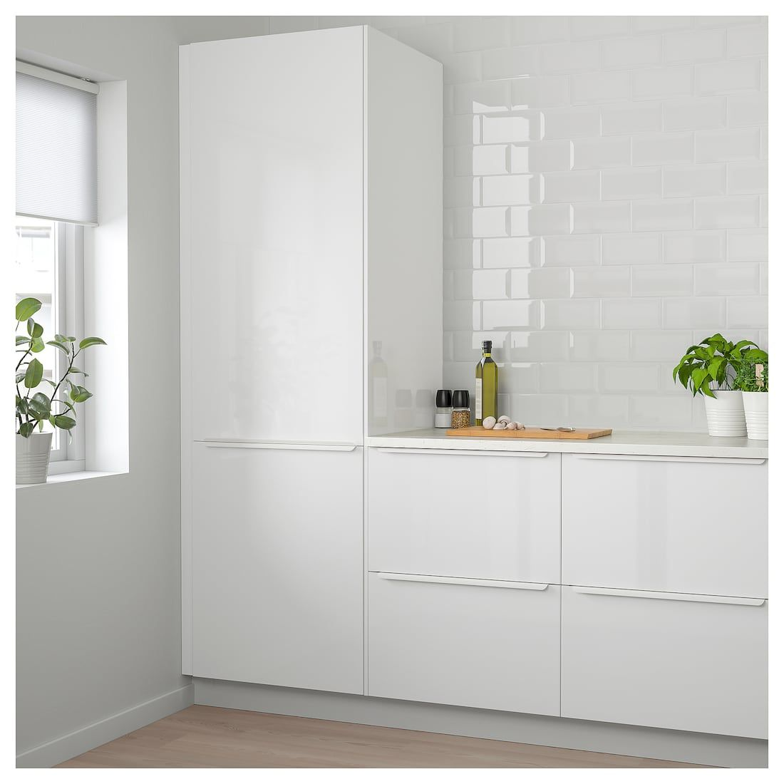 Ringhult Door High Gloss White 15x30 Ikea Kitchen Design Kitchen Remodel Modern Kitchen