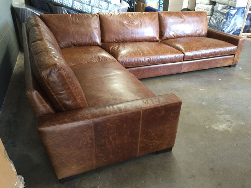 Full Grain Leather Sectional Leather Sectional Leather