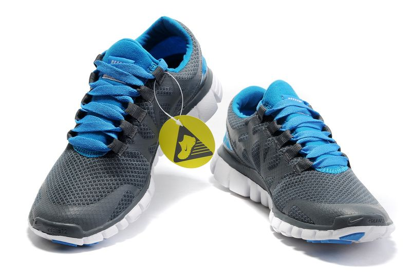 half off e117d c3c46 Nike Free 3.0 V3 Mens Running Shoes Carbon Grey Blue White