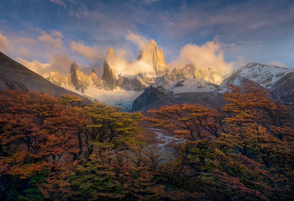 Mount Fitz Roy, Argentina-Chile border by Marc Adamus