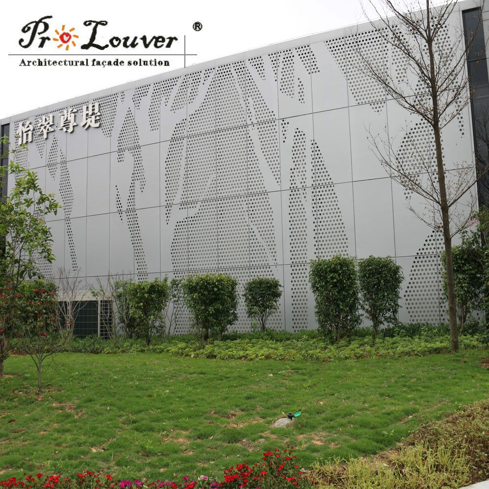 architectural picture perforated metal panel for facades