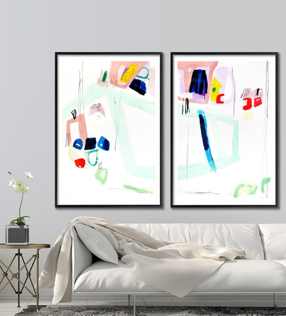 Giclee print of modern abstract painting large wall art 28x40 giclee print of modern abstract painting large wall art 28x40 abstract art mint green jeuxipadfo Gallery