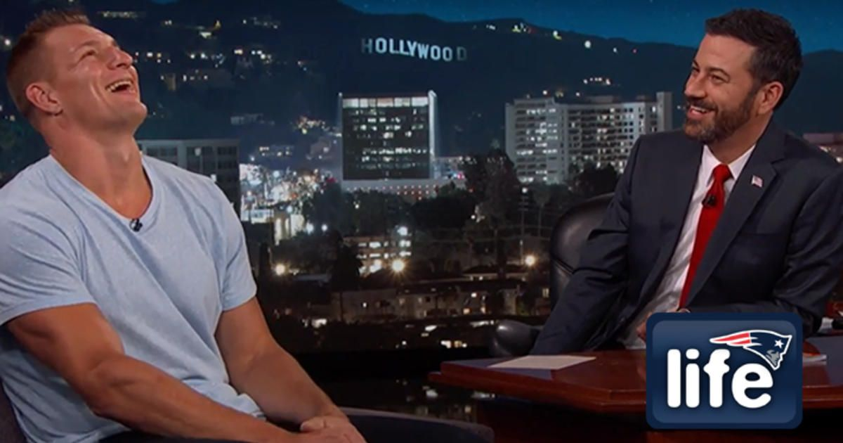 "Gronk stopped by ""Jimmy Kimmel Live!"" to talk about ""GQ,"" Madden and, of course, ghosts."