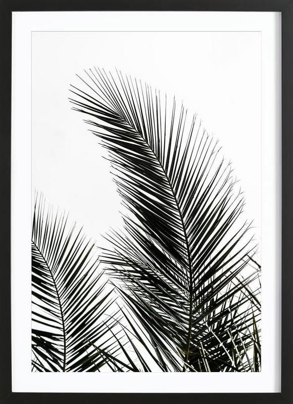 palm leaves 1 als gerahmtes poster von mareike b hmer juniqe interior at home pinterest. Black Bedroom Furniture Sets. Home Design Ideas