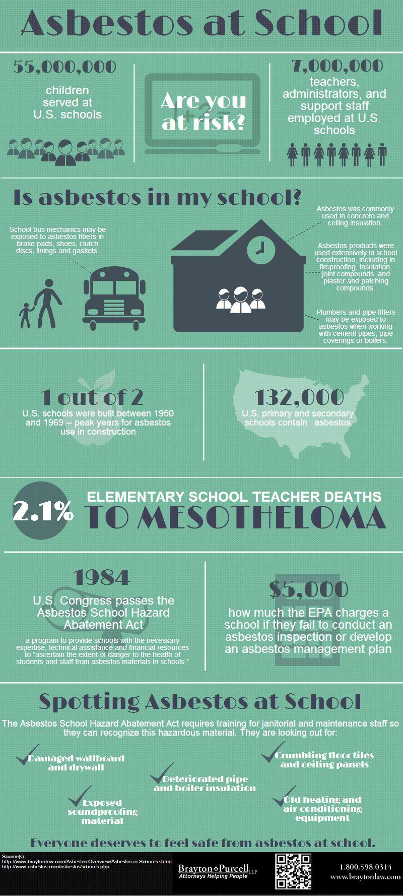 Asbestos in your schools infographic elementary schools