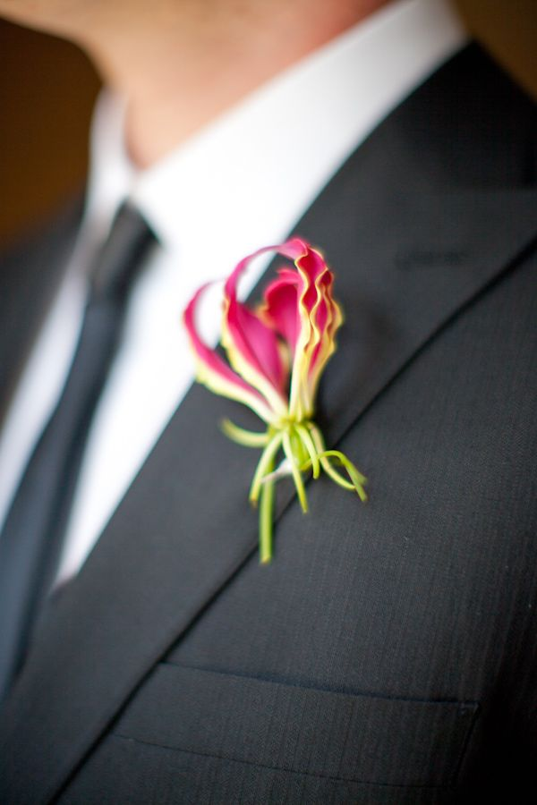 unique boutonniere -  photo by Love, The Nelsons; styling by Sweet Sunday Events http://ruffledblog.com/starry-holiday-wedding-ideas/