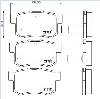 Automobile Front Brake Pads D537 43022 Sv4 G22 For Honda Accord Civic Insight Integra Legend Prelude Mg Zr Zs Rover600 S Front Brakes Honda Accord Brake Pads