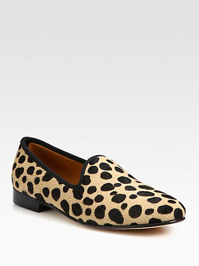 94df8266da0 Del Toro - Leopard-Print Calf Hair Slipper Shoe - Saks.com ...