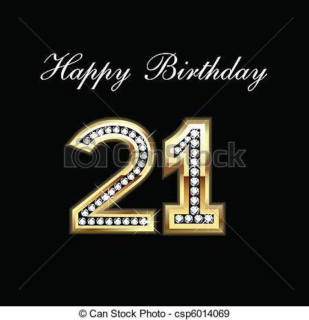 Vector Cumpleaos 21 Happy Birthday 21 Duranlove