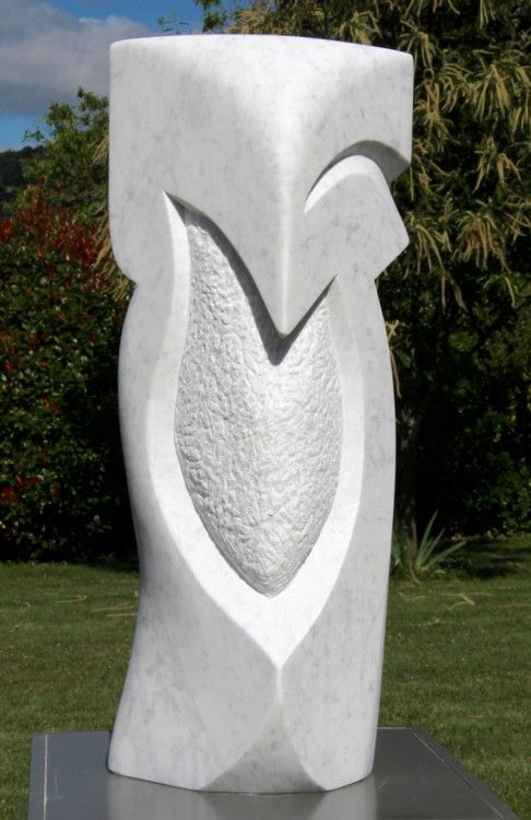 presenza sculpture 2009 par pascal cavalli art abstrait marbre de carrare sculptures. Black Bedroom Furniture Sets. Home Design Ideas