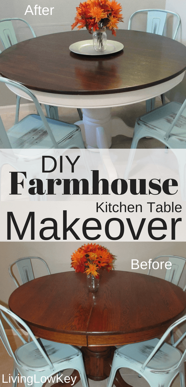 Diy farmhouse table project that will help you save money money look how amazing this diy farmhouse table turned out the best part of doing diy solutioingenieria Image collections
