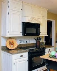 Not These Colors But The Idea Of Microwave Above Stove With A Range Hood Vent