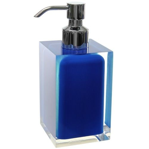 Soap Dispenser Gedy Ra81 05 Square Blue Countertop Soap
