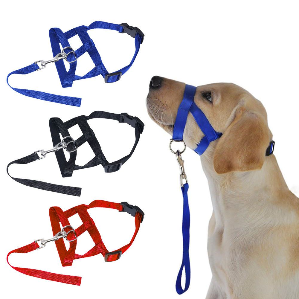 No Pull Pet Dog Head Collar Gentle Halter Leash Leader Straps For