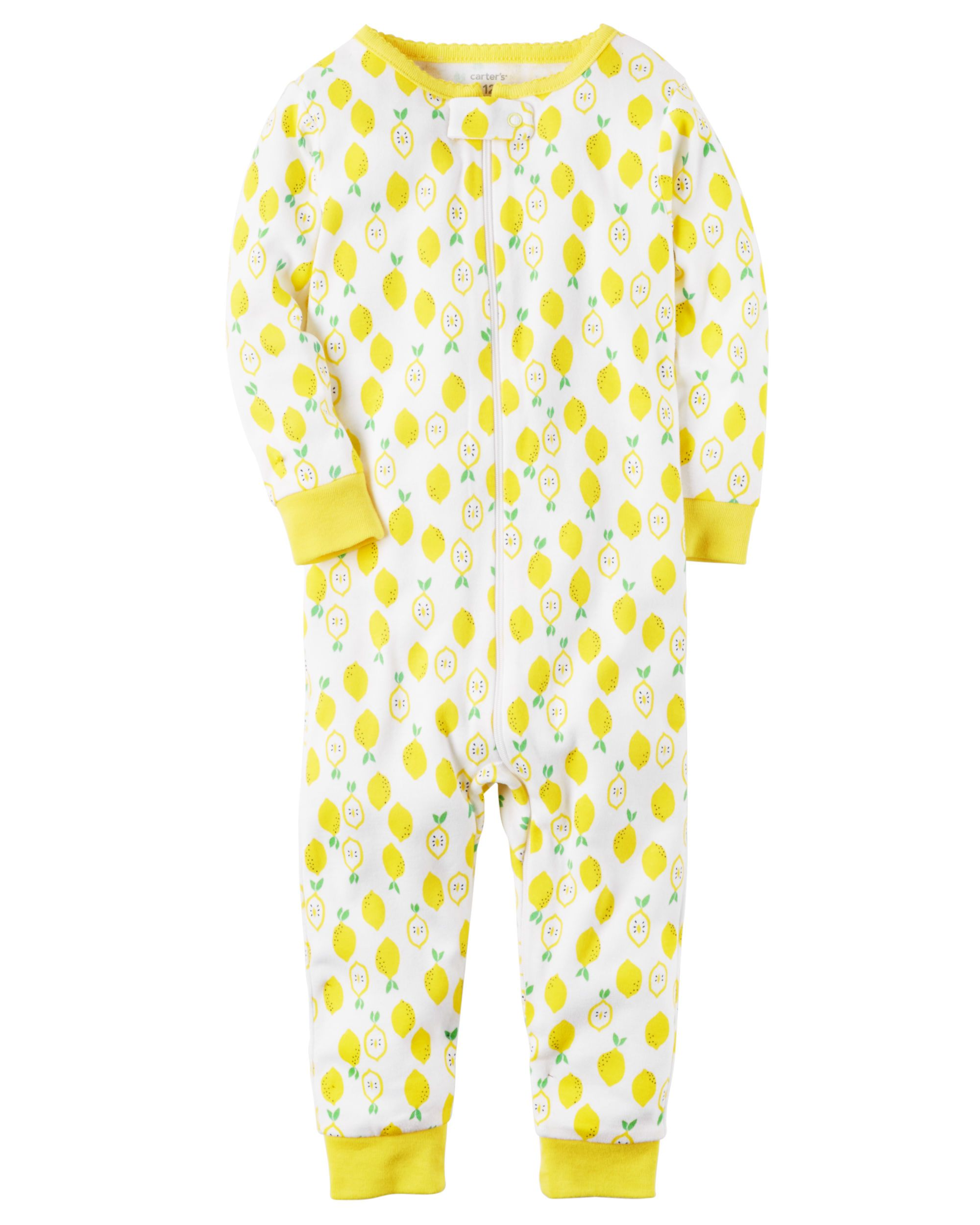 Baby Girl 1-Piece Snug Fit Cotton Footless PJs Crafted in supersoft cotton b95b182bf