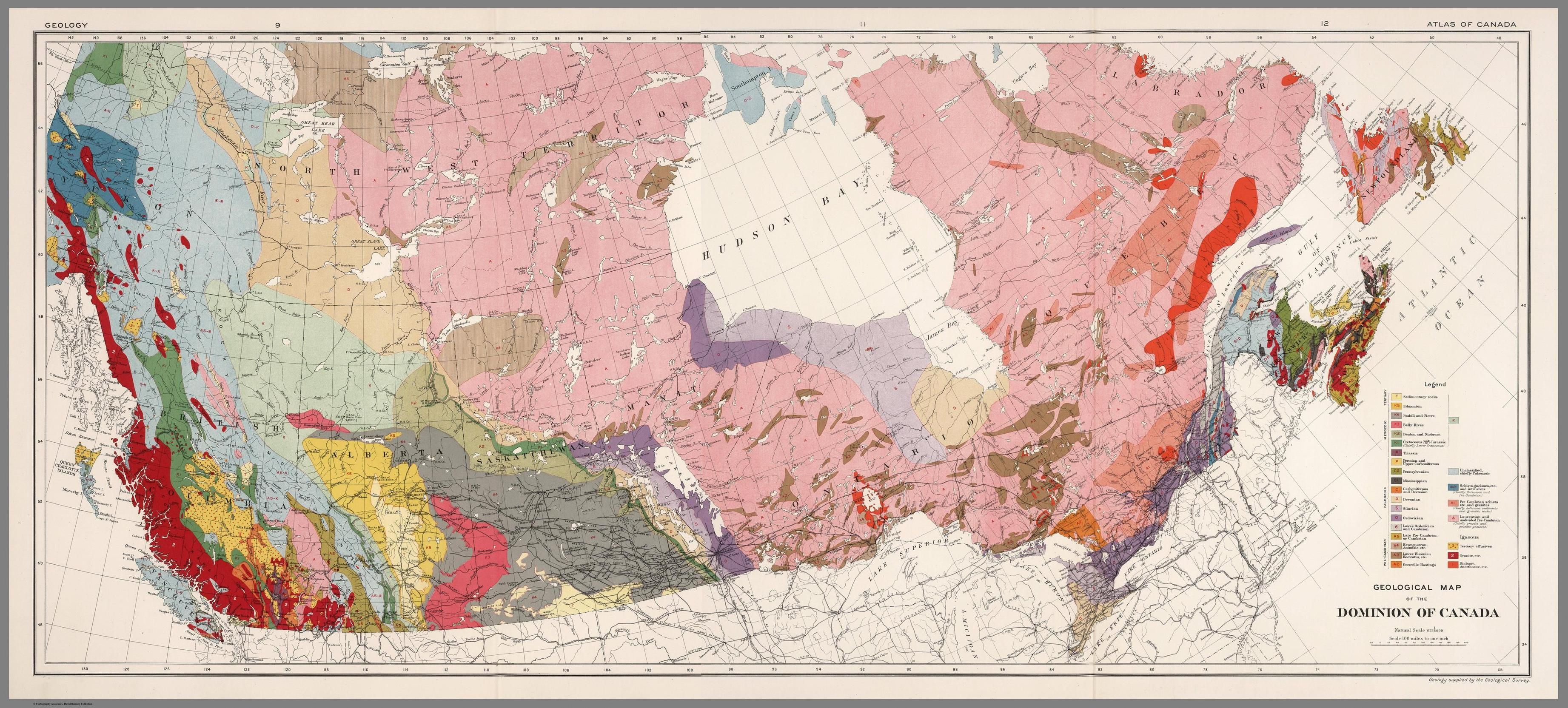 geology dominion of canada 1915 by chalifour map canada geology