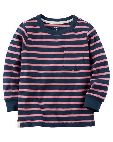 df8beba96 Kid Boy Long-Sleeve Striped Tee from Carters.com. Shop clothing &  accessories from a trusted name in kids, toddlers, and baby clothes.