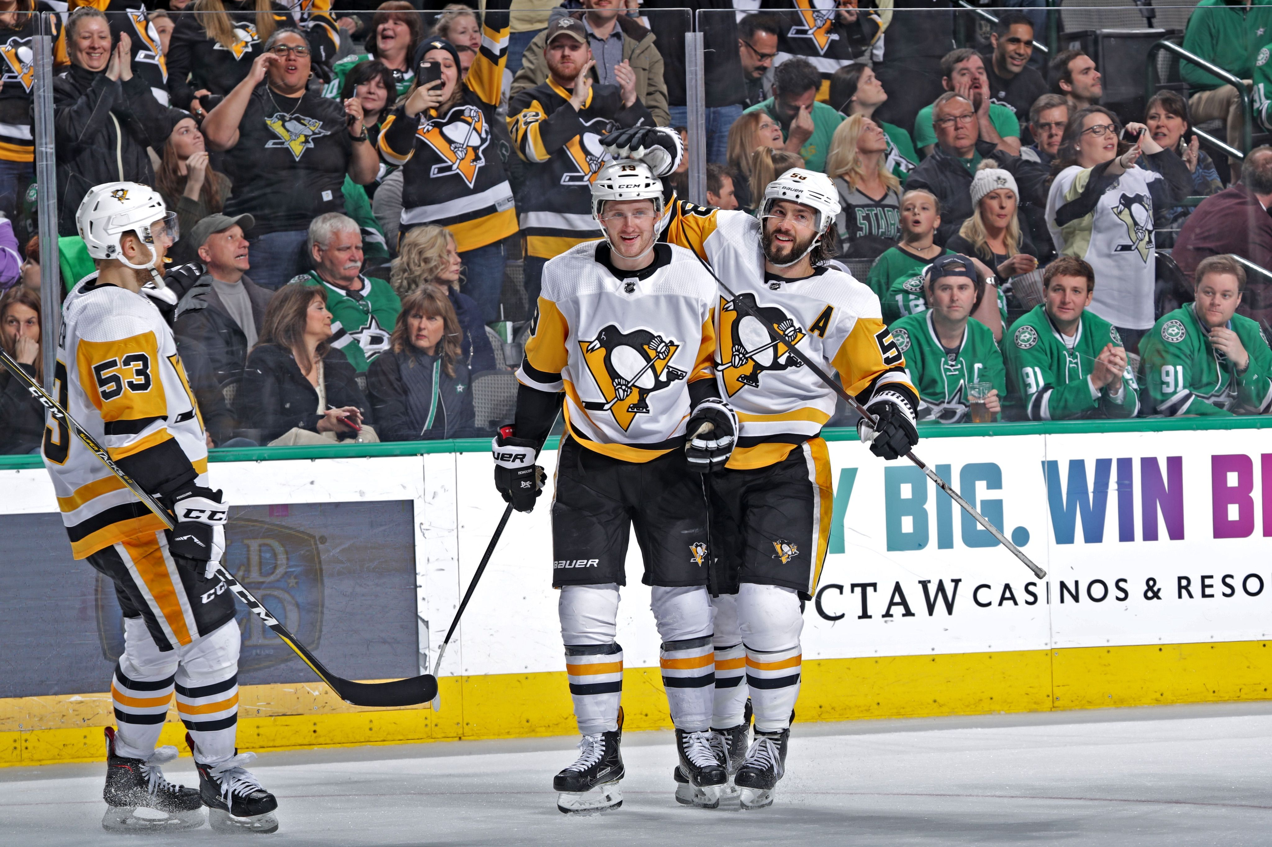 March 23 2019 At Dallas Jared Mccann Scored Twice Including An Amazing Spin O Rama Goal To Help The Pittsburgh Penguins Pittsburgh American Airlines Center