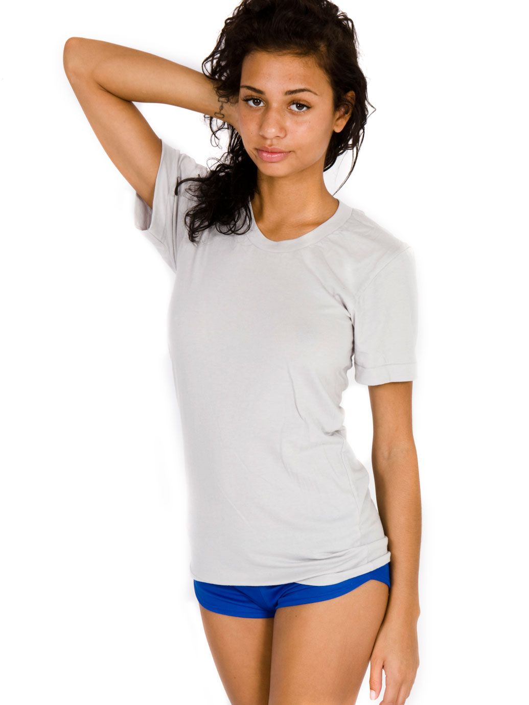 09ca05327df2 Unisex Sheer Jersey Loose Crew Summer T-Shirt