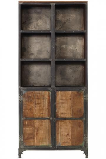 Manchester Bookcase with Doors - Industrial Bookcase - Industrial ...