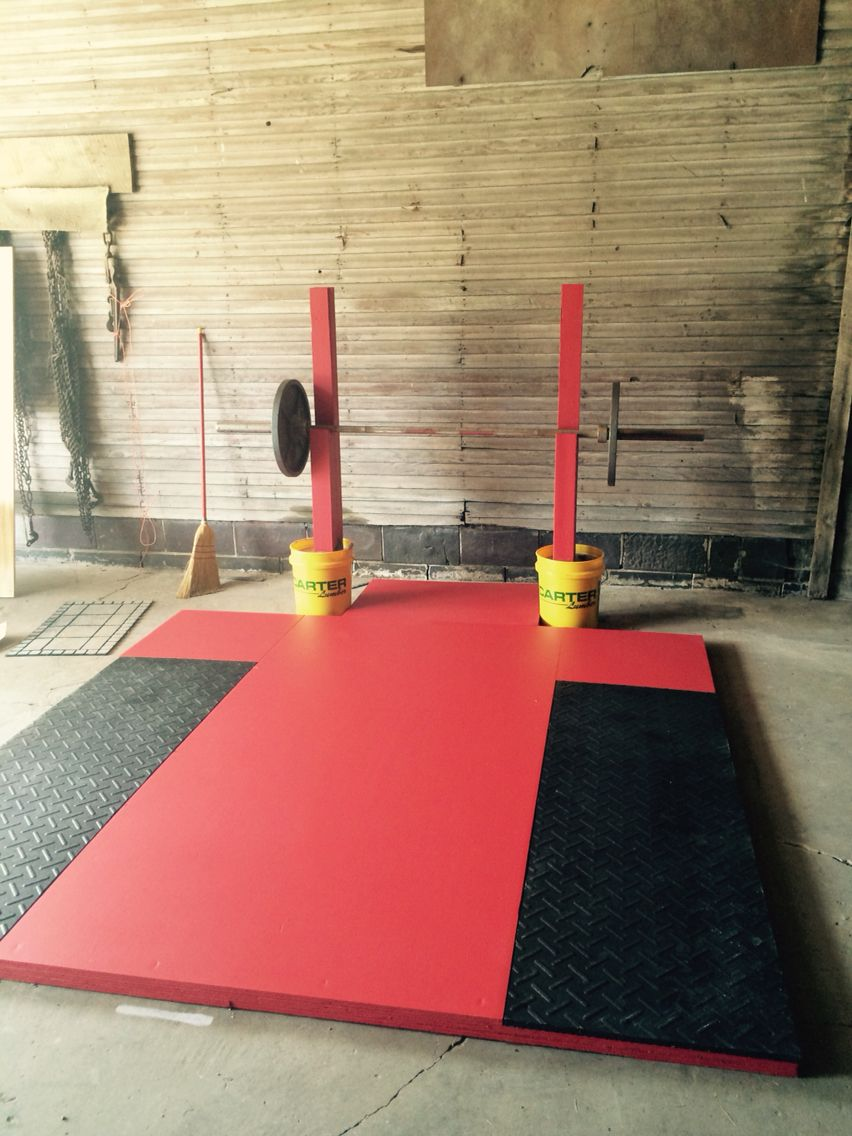 Decided to make my own weight lifting platform and squat